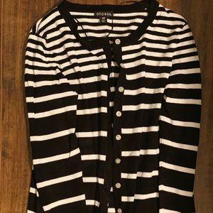 Striped cardigan size medium